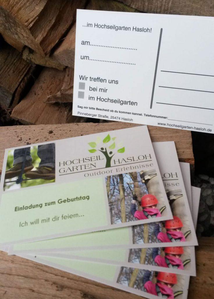 Geburtstagseinladung - Hochseilgarten-Hasloh