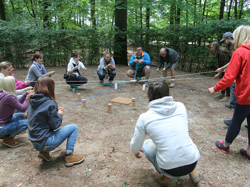 Teamevent im Hochseilgarten-Hasloh