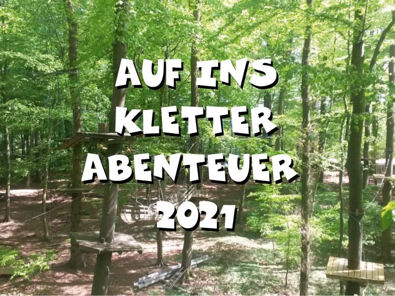 Blogbeitragsbild: 27.3.3021 geplanter Start Hochseilgarten Hasloh